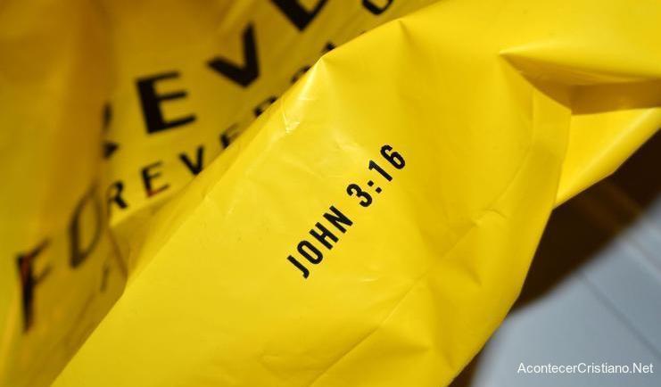 Versículo bíblico en bolsas