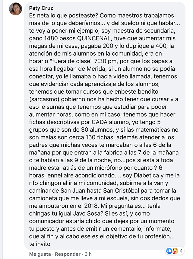"Locutor de Cadena Rasa tilda a maestros de ""huevones"""