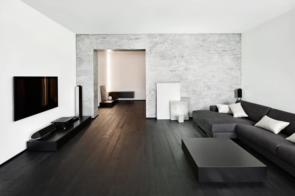 Interior Design of a Minimalist Home Living Room