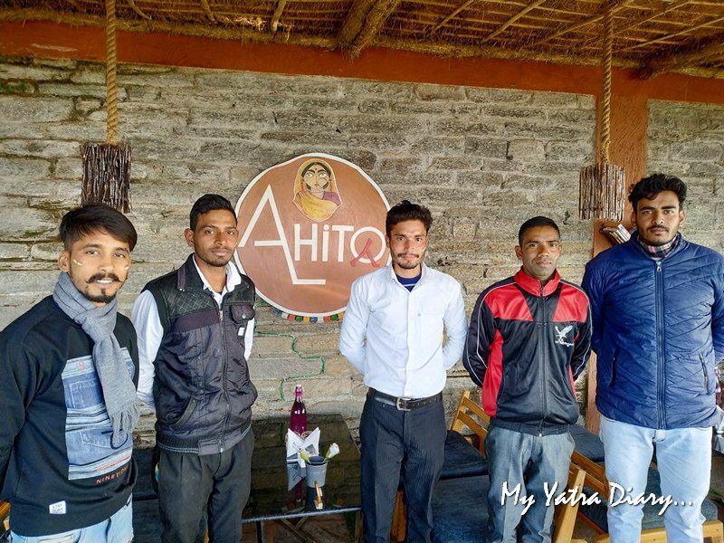 Staff at Alhito cafe, Kasar Devi Uttarakhand