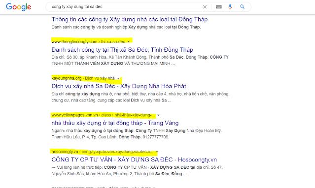 SEO va thiet ke website cong ty xay dung sa dec