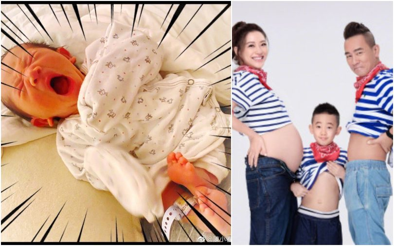 Jordan Chan and Cherrie Ying, new baby