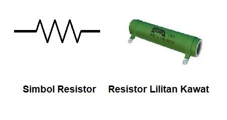 Resistor lilitan kabel