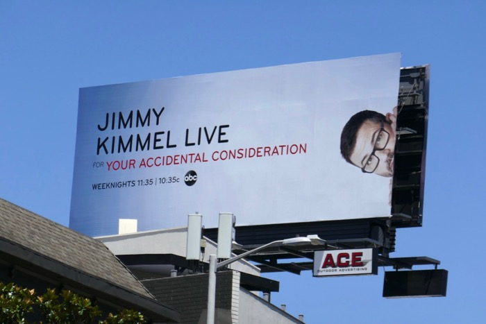 Jimmy Kimmel For your accidental consideration Emmy billboard