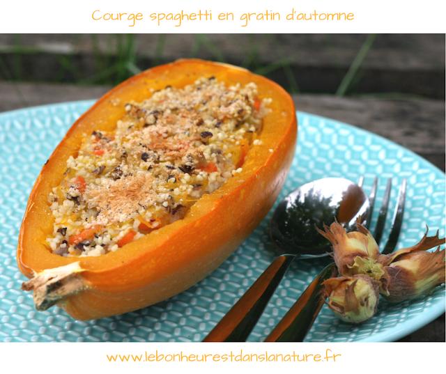 recette végétale vegan courge farcie en gratin automne