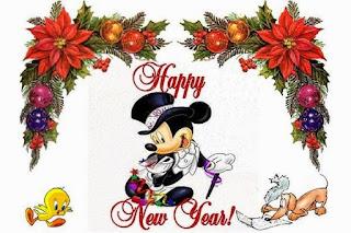 Gambar Ucapan Tahun Baru 2019 Lucu Mickey Mouse Disney Happy New Year Tahun 2019