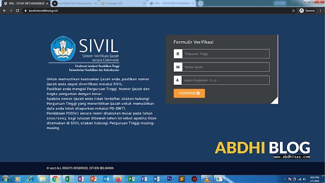 Cara Mengecek Keaslian Ijazah Dikti Melalui Sistem Verifikasi Ijazah Elektronik (SIVIL)