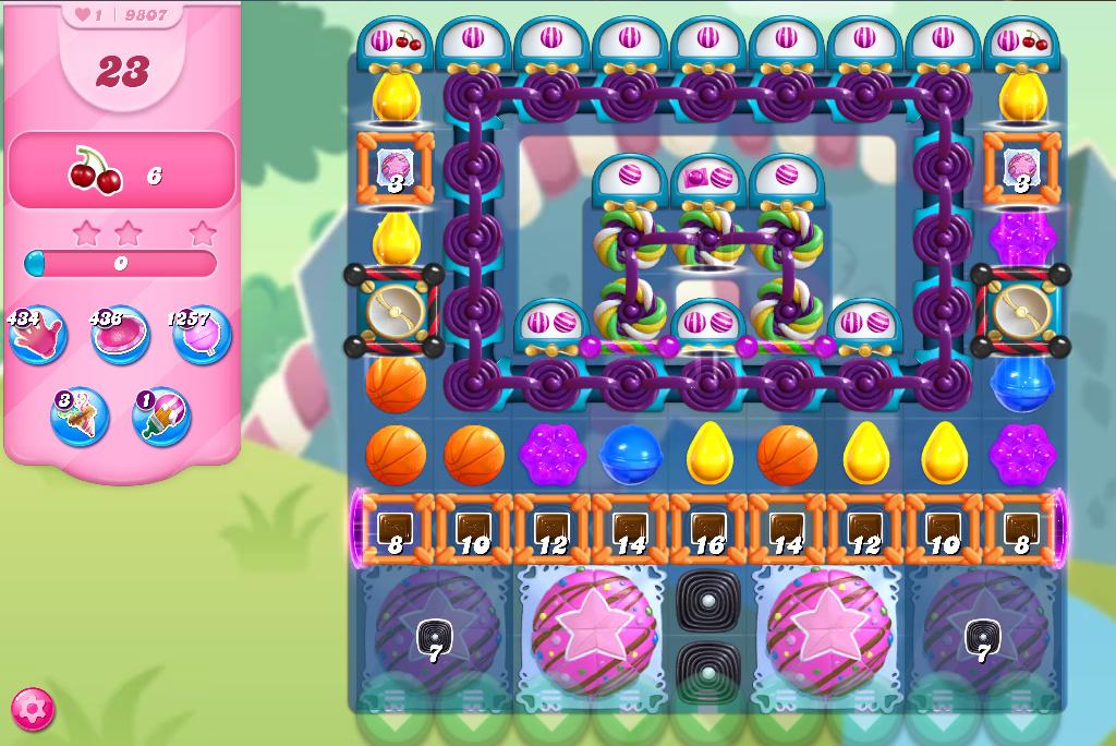 Candy Crush Saga level 9807