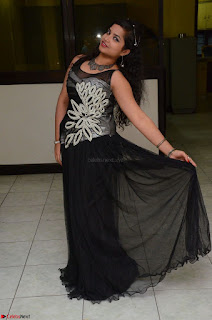 Shrisha Dasari in Sleeveless Short Black Dress At Follow Follow U Audio Launch 016.JPG