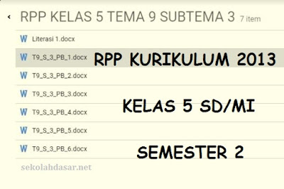 RPP Kurikulum 2013 Kelas 5 SD/MI Semester 2