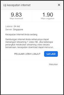 Cara Tes Kecepatan Internet Dengan Google Speedtest