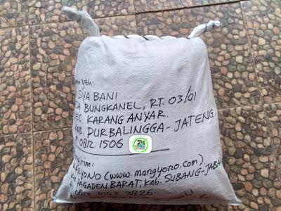 Benih padi yang dibeli   ALI SYA BANI Purbalingga, Jateng.  (Setelah packing karung).