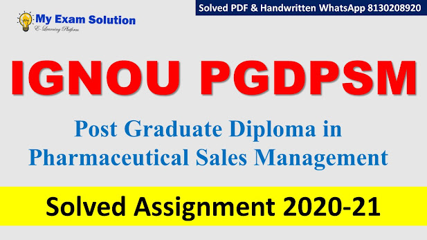 IGNOU PGDPSM Solved Assignment 2020-21