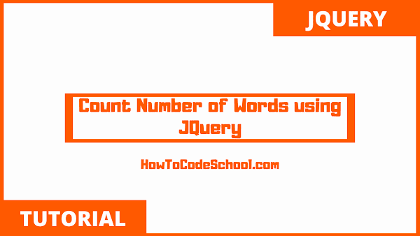 Count Number of Words using JQuery