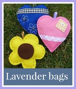 Felt lavender bags craft