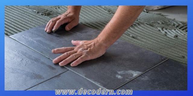 proses pemasangan lantai keramik