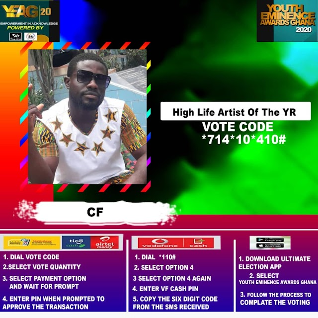 CF Antwi has being nominated for Highlife Artist of the Year in the YEM Awards 2020