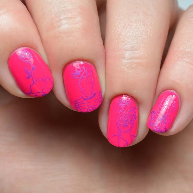 artist nail art stamping