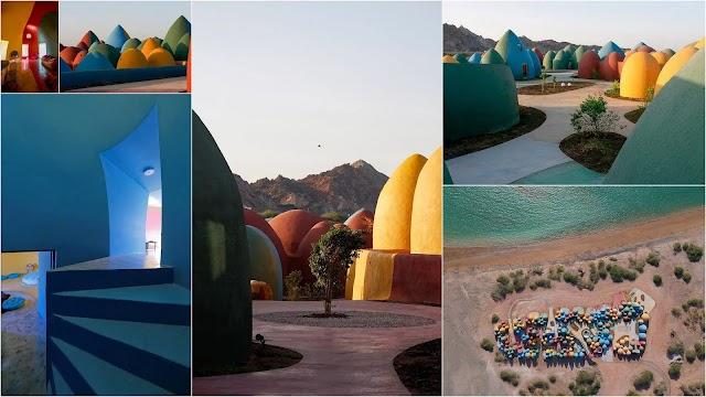 Το πολύχρωμο θολωτό χωριό στο Hormuz του Ιράν