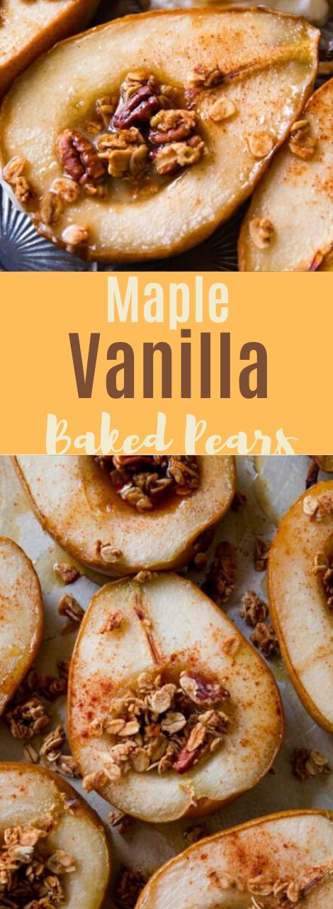 Maple Vanilla Baked Pears #diet #vanilla #maple #easy #recipes
