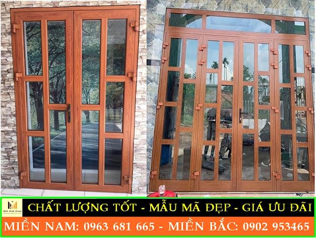 cửa nhôm xingfa vân gỗ giá bao nhiêu
