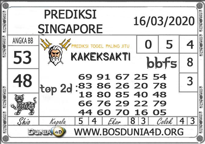 Prediksi Togel SINGAPORE DUNIA4D 16 MARET 2020