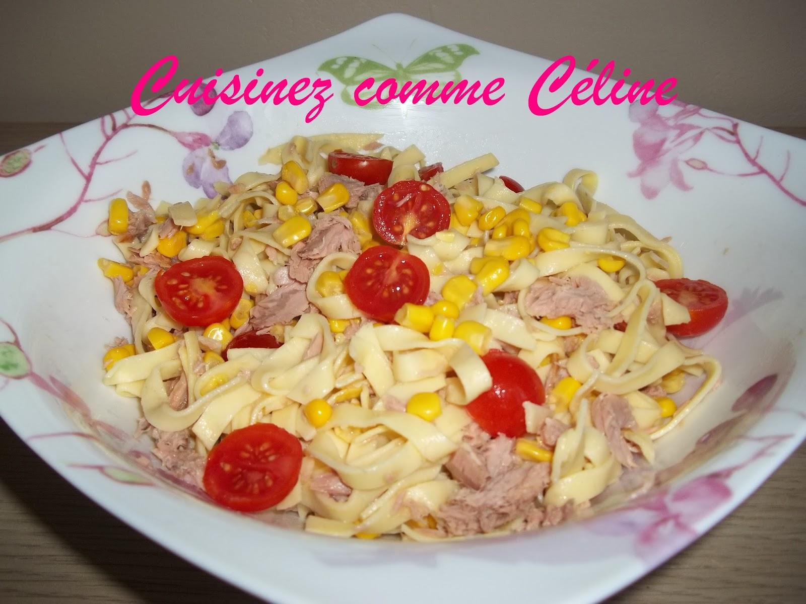 cuisinezcommec line salade de p te thon ma s et tomate. Black Bedroom Furniture Sets. Home Design Ideas