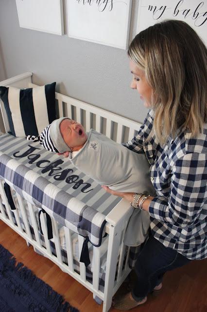 Newborn Essentials Review-Ollie World Velcro Swaddle