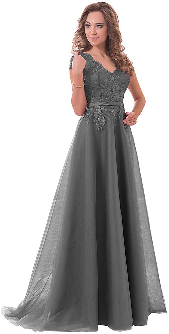 Beautiful Grey Mother of The Bride Dresses