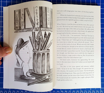 The Word-Keeper by Veronica Del Valle inside page with illustration of imp