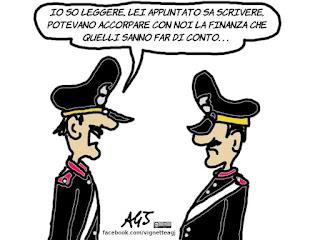 carabinieri, guardie forestali, accorpamento, umorismo, vignetta, satira