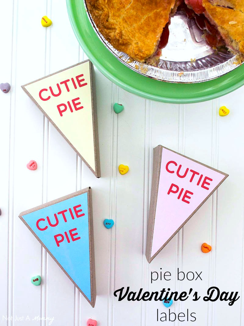 Download my free Valentine's Day labels for A La Modo pie slice boxes