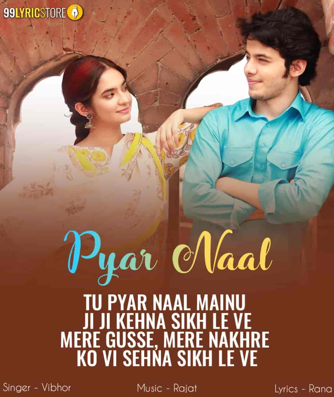 Pyar Naal Love Punjabi Song Written Image