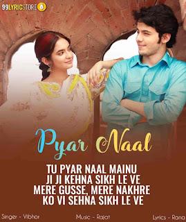 Pyar Naal Love Punjabi Song Written Image