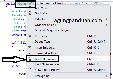 Go To Definition Visual Studio CSharp