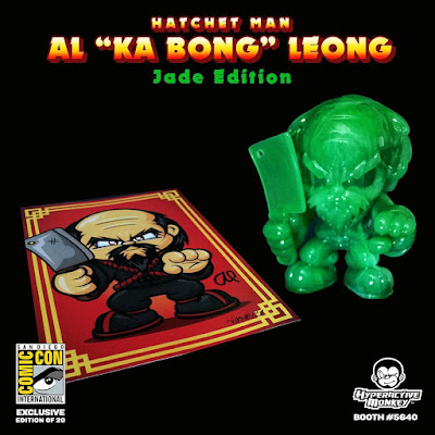 "San Diego Comic-Con 2016 Exclusive Jade Edition Hatchet Man Resin Figure by Hyperactive Monkey x Al ""Ka Bong"" Leong"