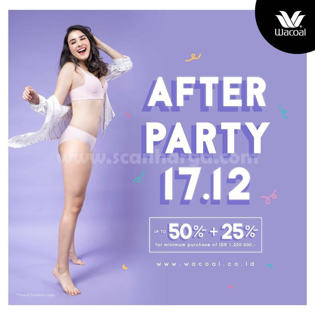 WACOAL Promo PARTY SALE Up To 50% + 25% For Min. Purchase IDR 1.200.000