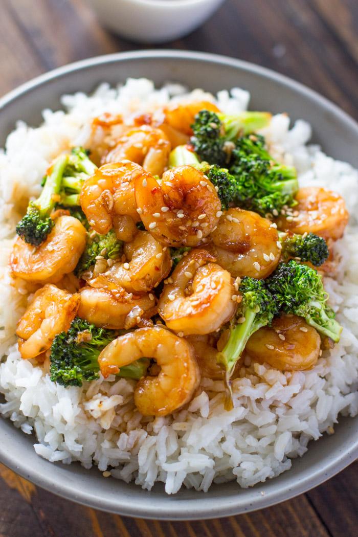 EASY HONEY GARLIC SHRIMP AND BROCCOLI #easyrecipes #honey #garlic #shrimp #broccoli #healthyrecipes #healthyfood