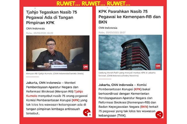 RUWET.. ! SALING LEMPAR Nasib 75 Pegawai KPK Yang Tak Lolos Tes