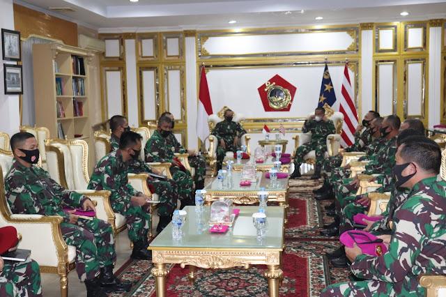 Komandan Koopssus TNI Kunjungi Markas Korps Marinir, Ini yang Dibahas