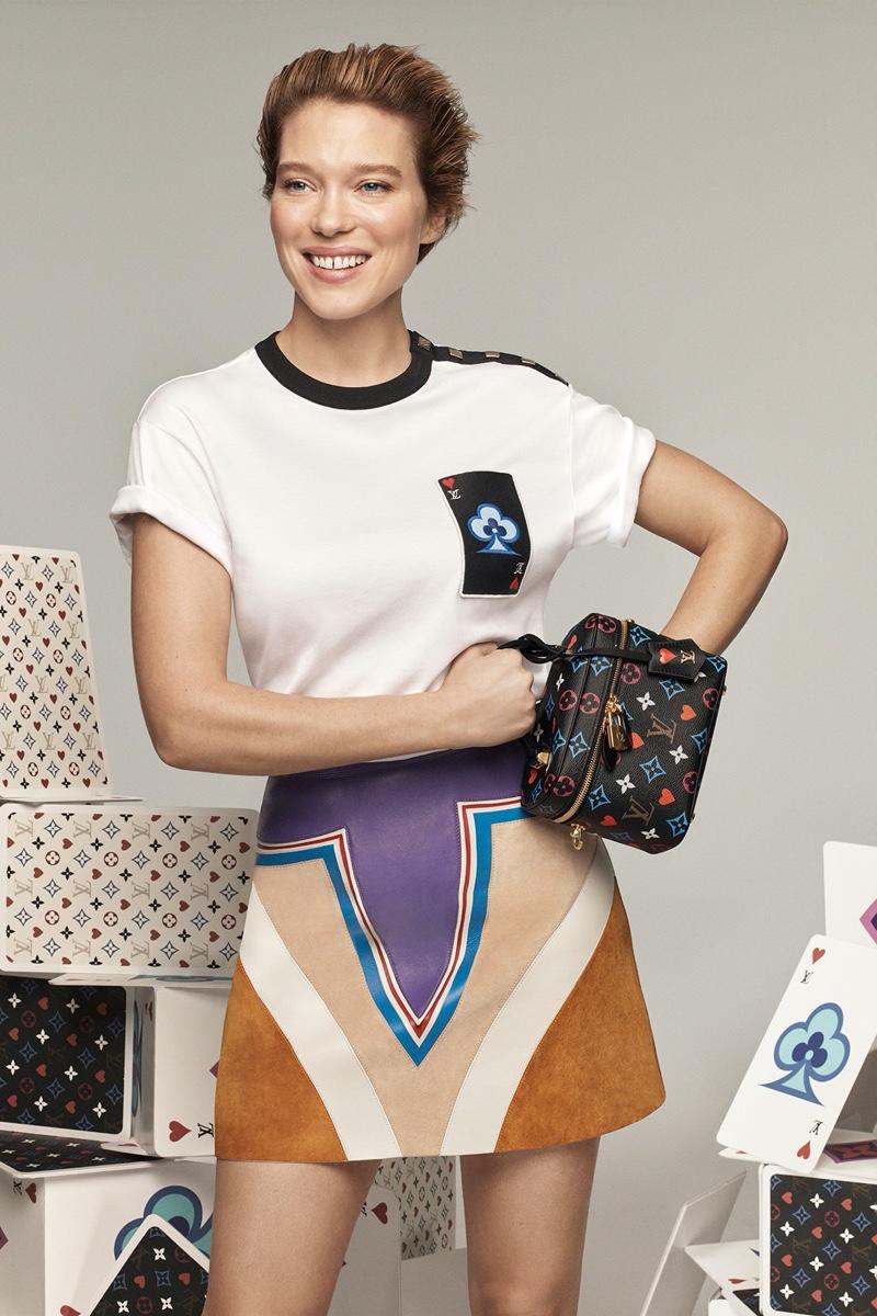 Lea Seydoux fronts Louis Vuitton cruise 2021 campaign.