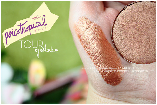 eyeshadow ombretti TOUR SWATCHES psicotropical collection neve cosmetics