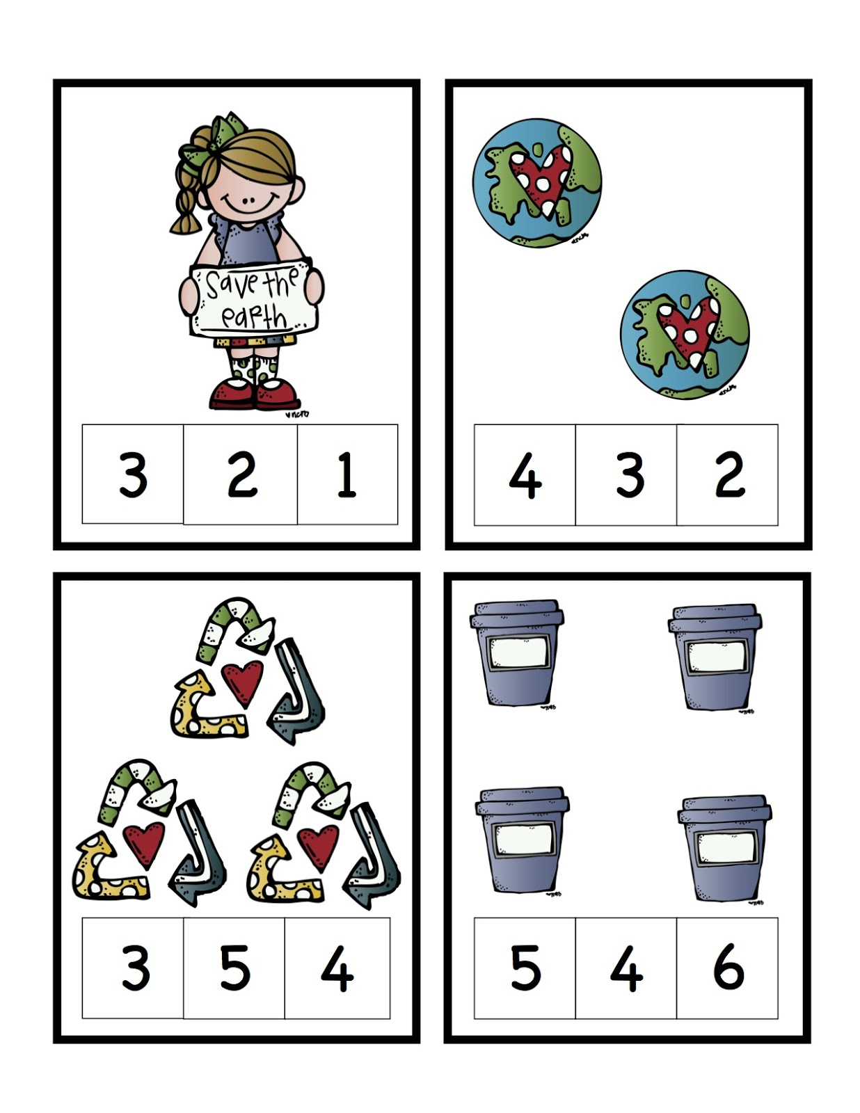 Recycle Num Cards 1 4