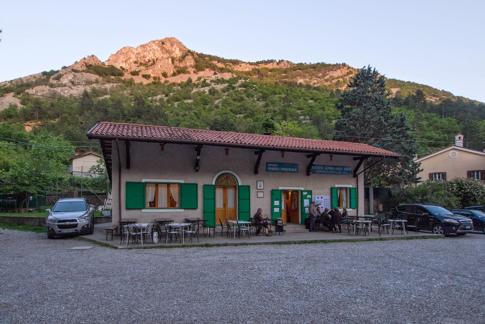 Rifugio Premuda in Val Rosandra.