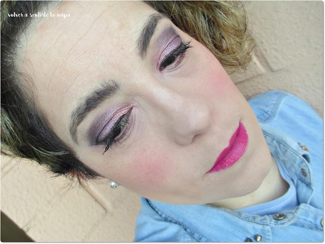 Maquillaje con Colourpop: rosa y morado