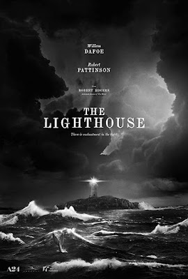 Movie poster for the A24 horror film The Lighthouse (2019), starring Willem Dafoe and Robert Pattinson