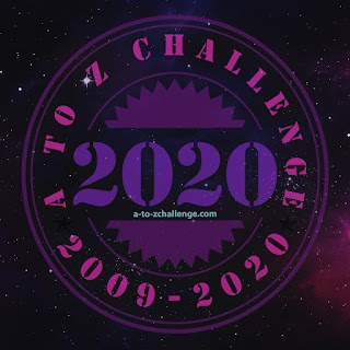 #AtoZChallenge 2020 badge
