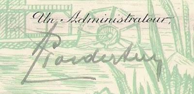 signature of Arsène Goedertier