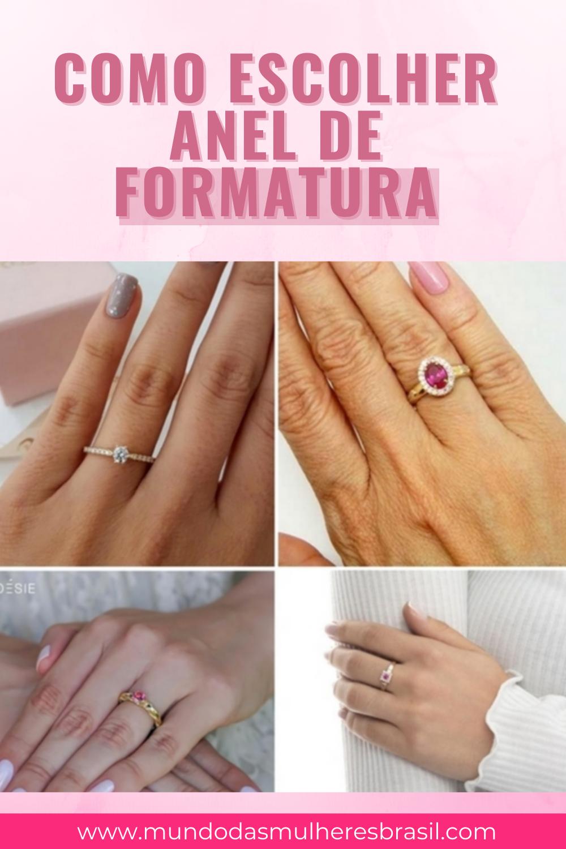 escolher anel para formatura