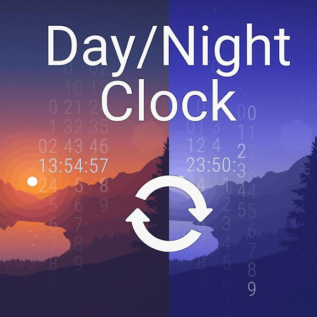 Day/Night Cycle Slide Clock Wallpaper Engine